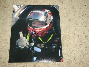 LEAH PRITCHETT  NHRA DRIIVER SIGNED 8X10 PHOTO coa