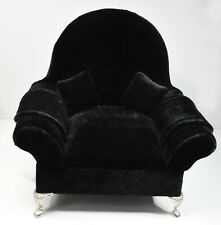 Black Velour Velvet Chair Jewellery Box Doll Pullip Blythe Bear Display