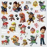 New PAW PATROL 37 WALL DECALS Ryder & Puppies Stickers Boys Puppy Bedroom Decor