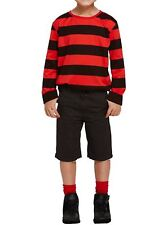 Boys Red and Black Striped Menace Jumper Children Long Sleeve Party Wear Top
