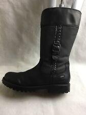 Clarks Ladies Mid Calf Boots Size UK 3.5 EU 36 US 4 M Black Leather/Textile