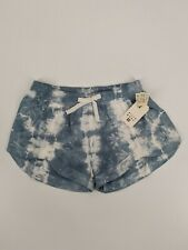 Billabong Girls Mad For You Blue/White Tie Dye Shorts NWT