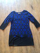 Anthropologie Aryeh Black And Blue Dress Size Medium