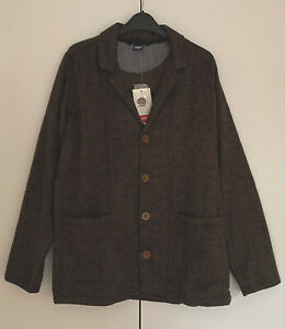 Men's Jersey Jacket Chocolate Cotton Traders was £36 BNWT Size Medium AD11252