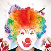 Kids Afro Curly Disco Circus Fancy Dress Up Party Costume Clown Wig HALLOWEEN