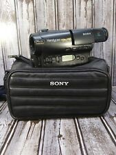 Sony Handycam Ccd-Tr600 8mm Video8 Hi8 Camcorder With Case Untested Sold As Is