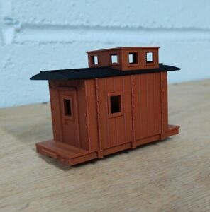 On30 14 foot WOODSIDE CABOOSE kit. No trucks/couplers. OXIDE RED. 3D Print. NEW