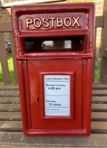 Postbox Letter Post Box - Cast Iron Post Office Red - Small - Rear/Wall Mount