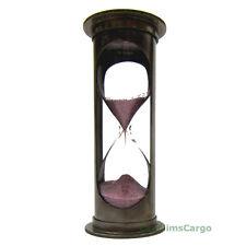 "Nautical ""WEST LONDON"" Brass Marine Sandglass 4"" Hourglass 5 Minute Sand Timer"
