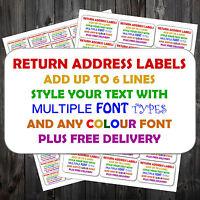Personalised Self Adhesive Sticky Pre Printed Mini Return Address Labels