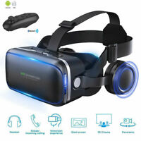 VR SHINECON 6.0 Virtual Reality 3D Glasses &Headset For Samsung iPhone +Control