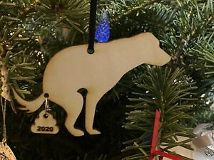 Pooping Dog 2020 Ornament -funny Christmas Holiday Ornament