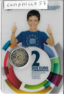 coincard bu 2 euro commemorative saint marin 2012