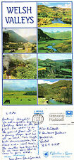 1991 MULTI VIEWS OF WELSH VALLEY WALES COLOUR POSTCARD