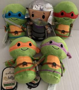 TMNT Hallmark ITTY BITTYS Teenage Mutant Ninja Turtles & Shredder Set 5 NEW +TAG