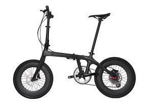 """Full carbon Folding Bike 20"""" UD Matt fork Seatpost wheel Clincher handlebar stem"""