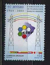 REGIONAL ENERGY INTEGRATION ELECTRICITY MAP FLAGS URUGUAY Sc#2068 MNH STAMP
