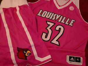 2016-17 Louisville Cardinals Pink Play4Kay Cancer Game Worn # 32 Jersey Sz XL +0