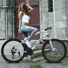 26 Inch Unique Mountain Bike 21 Speed Dual Disc Brakes Full Suspension Non-slip