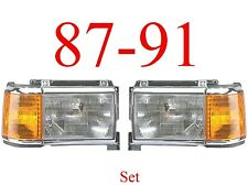 87 91 Ford Head Light Set, Chrome, F150, F250, Bronco, Truck Left & Right Sides!