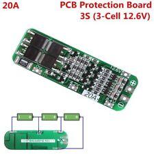 3S 20A 12.6V baterias 18650 bateria litio Protección PCB Board 59mmx20mm