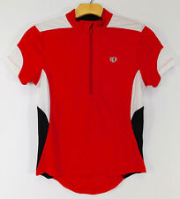 PEARL IZUMI Select CYCLING JERSEY Red Bike SHIRT 1/2 Zip Short Sleeve WOMEN'S XS