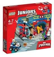 LEGO JUNIORS 10687 SPIDERMAN HIDEOUT-137 PIECES/3 MINIFIGURES-SPIDER MAN/SEALED