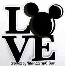 LOVE MICKEY BLOCK title paper piecing Premade Scrapbook Pages albums  by Rhonda