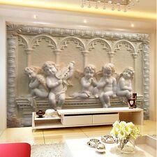 3D Wallpaper Mural Cupid Angel Statues European Wall Background TV Backdrop