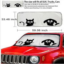 Universal Front Car Window Sunshade Auto Sun Visor Windshield Block Cover