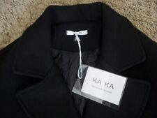 KAKA Design Korea Black Wool Winter Coat Women Medium to Large Size