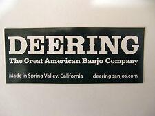 DEERING AMERICAN BANJO COMPANY DECAL STICKER CASE RACK BUMPER STICKER NICE NEW