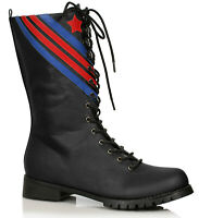 Ellie 158-AVIATOR Men's Black Combat Pilot Military Patriotic Costume Calf Boot
