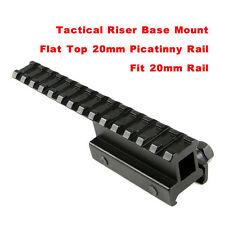 20mm Picatinny Bottom Top Rail Mounts Extented Rail Adaptor/Riser For Gun Pistol