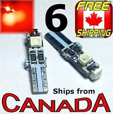 """SIX RED  T5 / 74 Type LED CANbus """"Error Free"""" Bulbs  3x5050 chips 12v"""