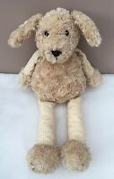 Jellycat Pitter Patter Puppy Dog Baby Comforter Soft Toy Cord Legs Soother Beige