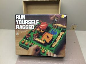 Vintage RUN YOURSELF RAGGED Tomy Obstacle Course Game BOX ONLY