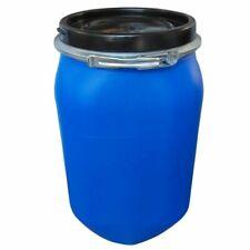 Fusto in plastica a bocca larga, quadrato, 30 Lt Omologato ONU/ADR. Colore Blu