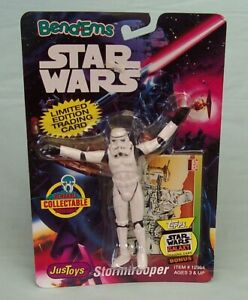 Star Wars Bend-Ems Storm Trooper on card Justoys - trading card #12362 c1993