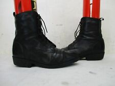 Santana Canada Black Leather Lace Up Ankle Winter Boots Womens Size 6
