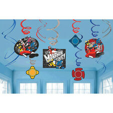 Power Rangers Party Supplies NINJA STEEL SWIRL DECORATIONS Foil Pack Of 12