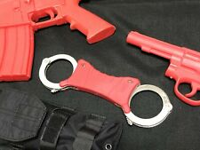 Free shipping  .Training rigid handcuff . No locking  RED