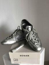 HOGAN LUXUS  Damenschuhe Sneakers, Silber, 38 1/2 Größe