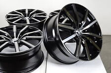 18 5x108 Black Wheels Fits Volvo Lincoln Ls Mk Jaguar X Type Cougar Taurus Rims