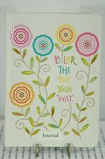 JOURNAL 160 PAGES LINED PAPER HALLMARK~COLOR THE DAY YOUR WAY~FREE SHIP US~
