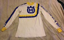 HUSQVARNA Vtg 80s 70s Metro Racing Moto X MOTOCROSS Jersey T-Shirt L Large White