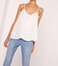 Blouse Lace Up Regular Size Tops & Shirts for Women
