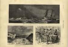 1873 Sea Trial Hms Devastation Guthrie Farnell Road Bridge Destroyed