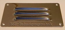 1 Stk. Lüftungsblech  128mm x 66mm  Edelstahl A2 glänzend  Kiemenblech Gitter