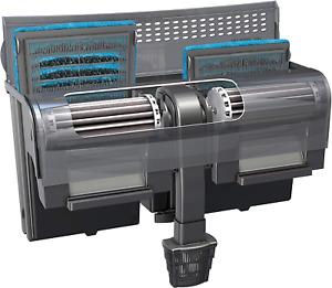 Fish Tank Water Filter Pump Aquarium Biological Filtration 350 GPH 50-75 Gallon